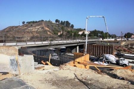 Golden Valley Road Bridge Concrete Pour 3