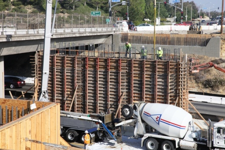 Golden Valley Road Bridge Concrete Pour 4