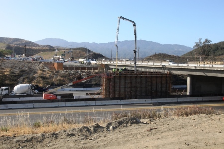 Golden Valley Road Bridge Concrete Pour 7