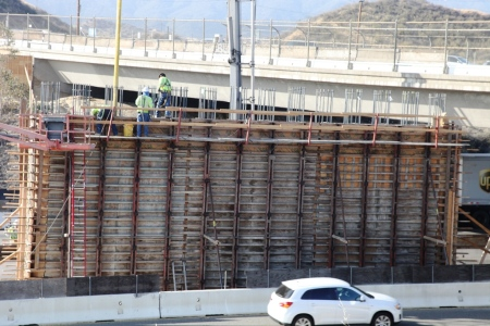 Golden Valley Road Bridge Concrete Pour 8