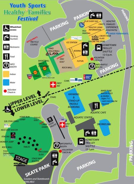 Youth Sports Festival Map 2015