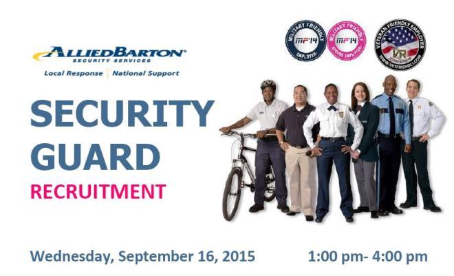 Allied Barton Security Recruitment 2015