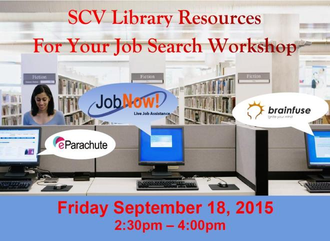 SCV Library Resources Job Fair 2015